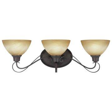 Volume Lighting Altamonte 3-Light Frontier Iron Bathroom Vanity