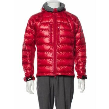 Quilted Pattern Puffer Coat Red