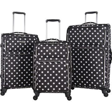 Heritage Albany Park 3 Piece Expandable Lightweight Spinner Luggage Set