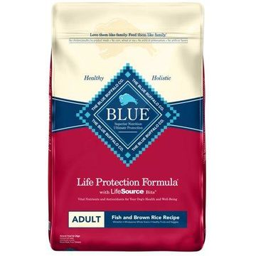 Blue Buffalo Fish and Brown Rice Recipe Adult Dry Dog Food, 30-lb