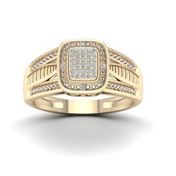 De Couer 1/10ct TDW Diamond Engagement Ring - Yellow