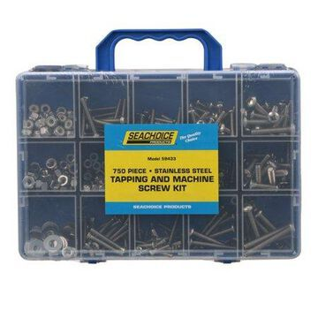 Seachoice 59433 Stainless Steel 750 Piece Tapping And Machine Screw Kit