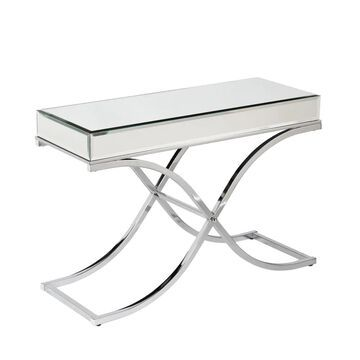 Boston Loft Furnishings Stacy Mirrored Glam Console Table in Chrome   ATG3734