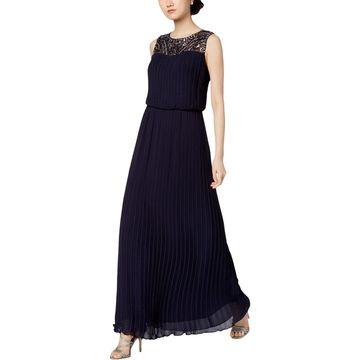 Alex Evenings Womens Evening Dress Embellished Blouson