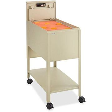 Safco Filing Cart Lockable , Putty