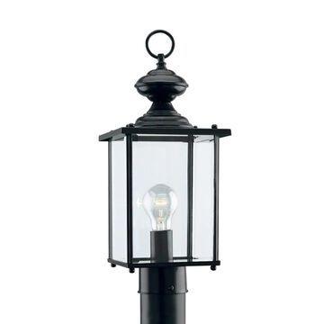 Sea Gull Lighting Jamestowne 100-Watt 17-in Black Traditional Post Light | 8257-12