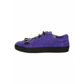Suede Beaded Accents Sneakers Purple