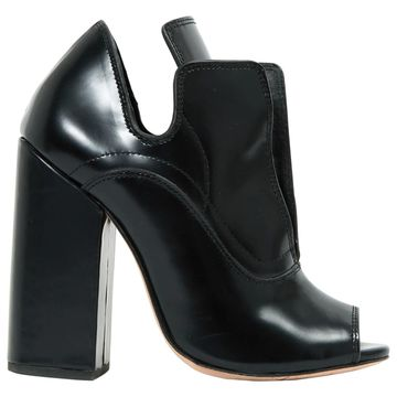 Ellery Black Leather Ankle boots