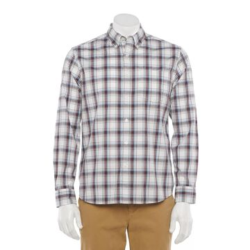 Men's Sonoma Goods For Life Perfect Length Poplin Button-Down Shirt in Regular Fit