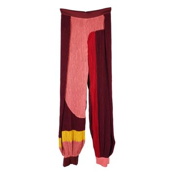 Roksanda Burgundy Polyester Trousers