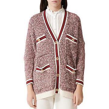 Maje Mapada Knit Button-Front Cardigan