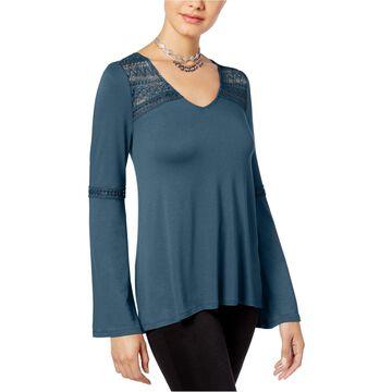 Hippie Rose Womens Bell Sleeve Basic T-Shirt