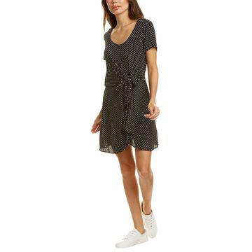 Three Dots Tie-Waist Mini Dress