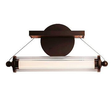 Libra LED Sconce by Hubbardton Forge - Color: Clear - Finish: Glossy - (209105-1000)