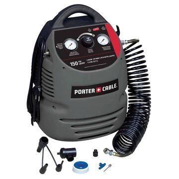 Porter Cable CMB15 120V 150 PSI 1.5 gal Oil-Free Fully Shrouded Compressor