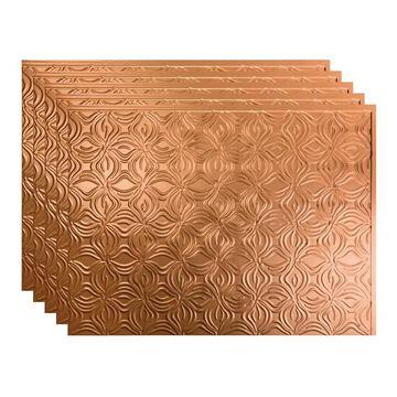 Fasade Lotus Backsplash in Polished Copper 15-square-foot 15 Sq Ft Kit