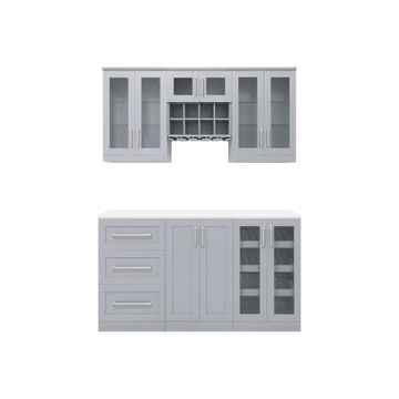 NewAge Products Home Bar 7 Piece Cabinet Set - 21