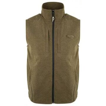 Drake Waterfowl Heathered Windproof Full-Zip Vest for Men
