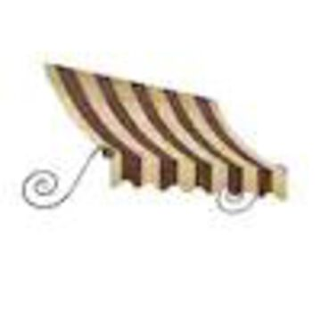 Awntech Charleston 100.5-in Wide x 36-in Projection Striped Crescent Window/Door Fixed Awning