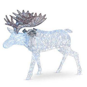 National Tree Company 50-Inch Pre-Lit Moose Decoration