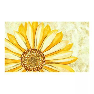 Liora Manne Illusions Sunflower Indoor Outdoor Doormat, Yellow, 19.5X29.5
