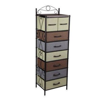 Household Essentials 8-Drawer Tower in Black