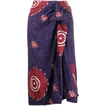 floral-print sarong skirt