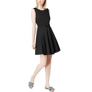Maison Jules Womens Bow-Detail Mini Mini Dress