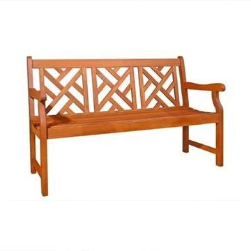 Vifah Eucalyptus Outdoor Wood Bench - Brown