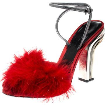 Marco De Vincenzo Red Leather Sandals