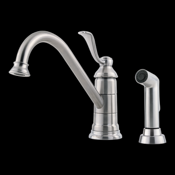 Pfister Portland 1-Handle Kitchen Faucet with Side Spray in Stainless Steel