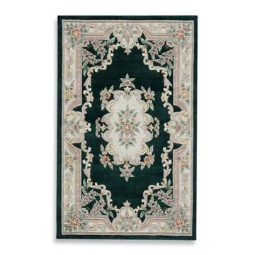 Rugs America New Aubusson 8-Foot x 11-Foot Rectangular Rug in Emerald