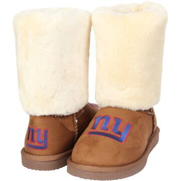 Women's New York Giants Cuce Tan Fan Boot