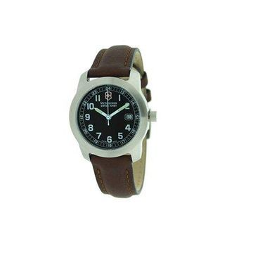Victorinox Garrison Black Dial Leather Strap Ladies Watch 241014CB