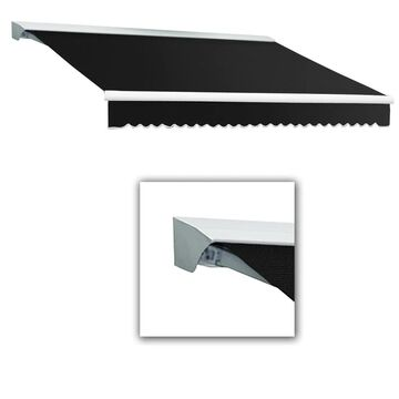 Awntech Destin 120-in Wide x 96-in Projection Black Solid Motorized Retractable Patio Awning | DTR10-L-K
