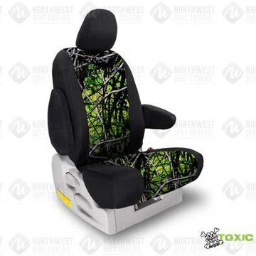 NorthWest Camo Seat Covers in Moon Shine Toxic w/ Black Sides, 1st-Row Seat Covers