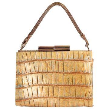 John Galliano Gold Leather Handbags