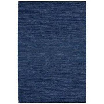 Blue Matador Leather Chindi Rug