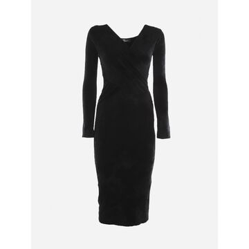 Blumarine Midi Dress With Cut-out Details