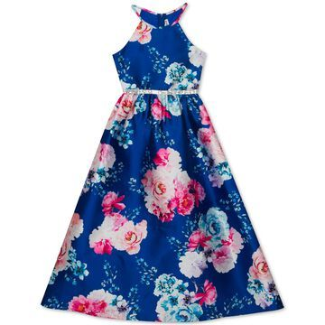 Big Girls Floral-Print Gown
