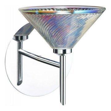 Besa Lighting 1SW-550493-CR Kona Wall Sconce, Chrome