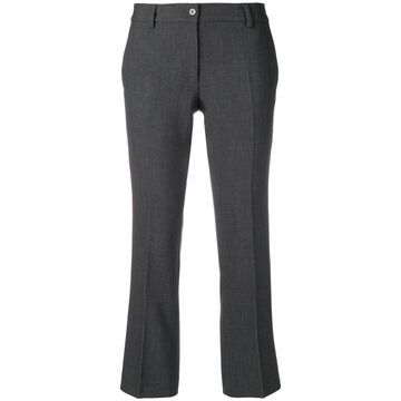 creased cropped trousers