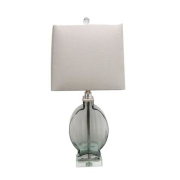 Jeco Glass Table Lamp with Crystal Base
