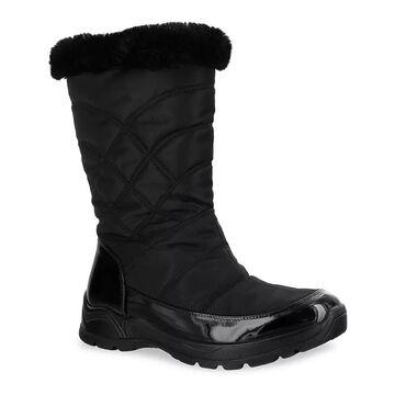 Easy Street Easy Dry Cuddle Women's Waterproof Boots, Size: 7.5, Black