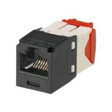 Panduit MINI-COM TX-5e - Modular insert - black - 1 port (pack of 24)
