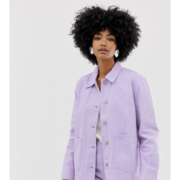 Weekday worker denim jacket in lilac