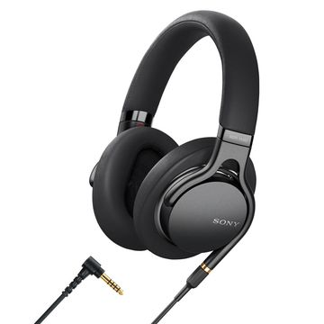 Sony MDR1AM2B Wired High-Resolution Audio Over-Ear Headphones with Built-In Remote and Microphone (Black)
