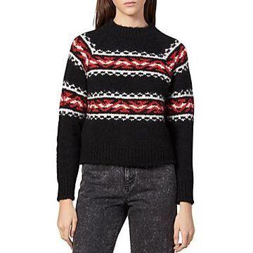 Sandro Jaquie Geometric Jacquard Sweater