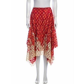 Vintage Midi Length Skirt Red