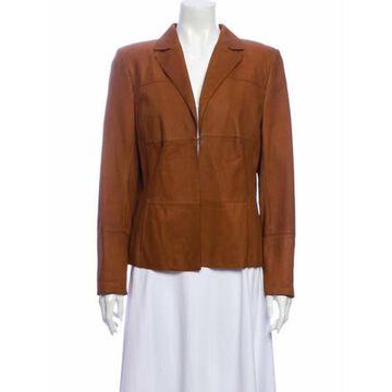 Leather Blazer Brown